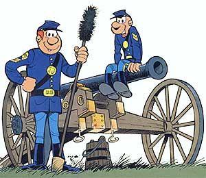 Les Tuniques bleues : le sergent Cornélius Chesterfield et le caporal Blutch