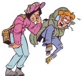 """""""Les paparazzi"""", la bande dessinée créée en 1996 par Luc Mazel et Rraoul Cauvin, dans le journal """"Spirou"""""""
