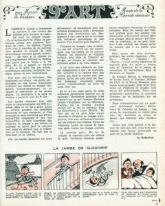 """La première page de la première rubrique """"9e art. Musée de la bande dessinée"""", créée, le 17 décembre 1964, dans le numéro 1392 du Journal de Spirou"""", par les belges Morris et Pierre Vankeer"""