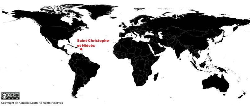Localisation de Saint-Christophe-et-Niévès dans le monde