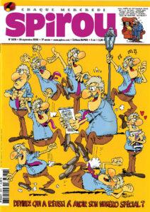 """Le n°3676 du journal """"Spirou"""" du 24 septembre 2008 consacré au scénariste belge Raoul Cauvin"""