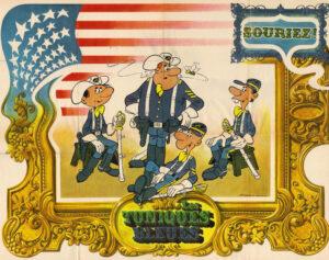"""Poster des """"Tuniques bleues"""" dessiné en 1970 par Louis Salvérius et Michel Matagne"""