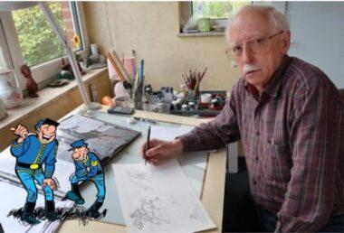 """Le dessinagteur belge Willy Lambil, repreneur en 1972 du sergent Chesterfield et du caporal Blutch, les célèbres """"Tuniques bleues"""", créées en 1968 par Raoul Cauvin et Louis Salvérius"""