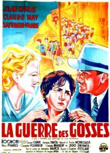 """L'affiche du film français """"La guerre des gosses"""", réalisé en 1936 par Jacques Daroy, première adaptation du roman français """"La guerre des boutons"""", de Louis Pergaud, paru en 1912"""