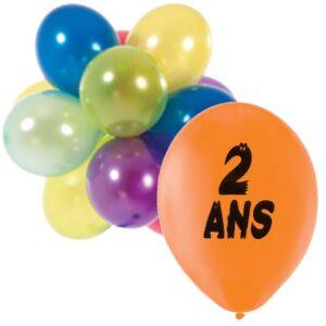 """Ballons """"2 ans"""""""