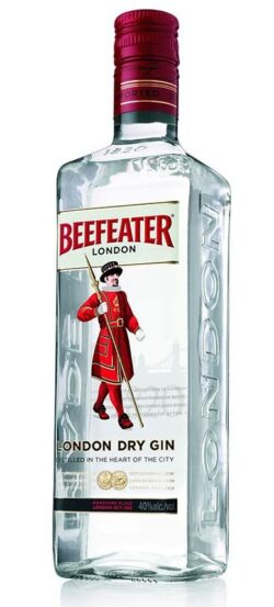 """Une bouteille de gin """"Beefeater"""""""