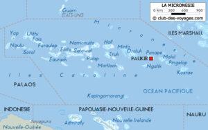 Carte des États Fédérés de Micronésie