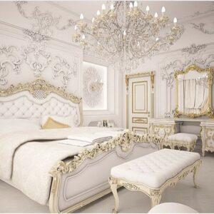 """Une chambre à coucher tape-à-l'oeil (""""Bling-bling"""")"""
