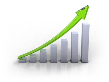 Une courbe de croissance exponentielle