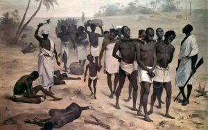 Un convoir d'esclaves, en Afrique, au XIXe siècle