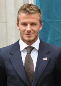 L'ancien joueur de football international britannique David Beckham
