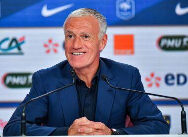 L'ancien joueur de football international français, devenu entraîneur et sélectionneur de l'équipe de France Didier Deschamps