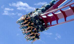 """Montagnes russes inversées (""""inverted roller coaster"""")"""
