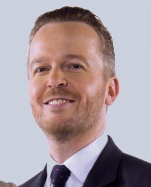 Le journaliste sportif français Julien Brun