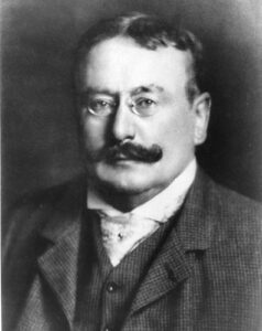 L'entrepreneur suisse Julius Michael Johannes Maggi (9 octobre 1846 - 19 octobre 1912), fondateur de la société helvétique Maggi, en 1885