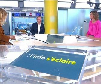 """L'émission d'Axel de Tarlé """"L'info s'éclaire"""", sur la chaîne de télévision publique française d'information en continu france info"""