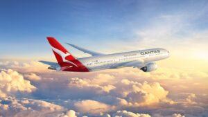 Un avion de la Qantas en vol