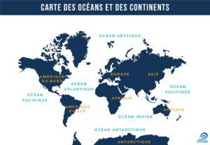 Localisation de l'Antarctique, à l'extrême-Sud du globe terrestre