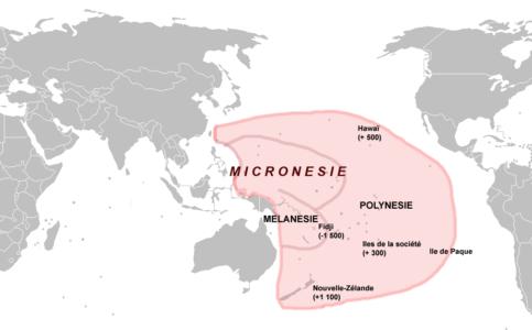 Localisation des États Fédérés de Micronésie
