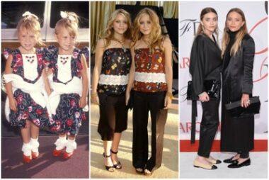 """Lorsque les jumelles Mary-Kate et Ashley Olsen s'habillent pareil (""""twinning outfit"""")"""