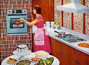 Une ménagère des années 1960