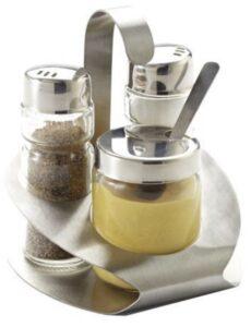 Une ménagère de table 3 pièces : sel, poivre et moutarde