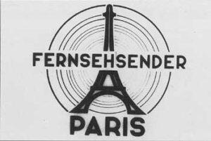 """L'image fixe de 1943 de la chaîne allemande """"Fernsehsender Paris"""" (""""Paris Télévision"""")"""