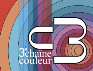 """Le logotype fixe de la troisième chaîne en couleur """"C3"""", lancée le 31 décembre 1972"""