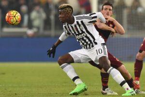 Le joueur de football international français Paul Pogba, sous le maillot de la Juventus de Turin