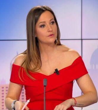 La journaliste sportive française Pauline Pioche