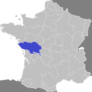Localisation du Poitou