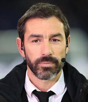 Le joueur de football international français Robert Pirès, devenu consultant