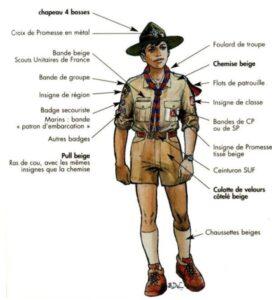 """Un """"routier"""" scout, également appelé """"compagnon"""" ou """"pionnier"""""""