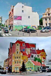 Une étonnante fresque murale en trompe-l'oeil, à Poznan (Pologne)