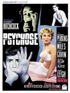 """Affiche du film états-unien """"Psychose"""" d'Alfred Hitchcock (1960)"""