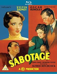 "Affiche du film britannique ""Sabotage"" d'Alfred Hitchcock (1936)"