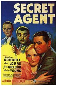 """Affiche du film britannique """"Secret agent"""" d'Alfred Hitchcock (1936)"""