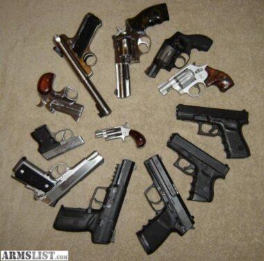 Des armes à feu de poing