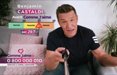 """Publicité télévisée française de novembre 2020, de l'animateur de télévision français Benjamin Castaldi, pour le programme minceur """"Comme J'aime"""""""