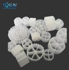 Les différents modèles de biomédias proposés aux stations d'épuration par la société chinoise Yosun Environmental