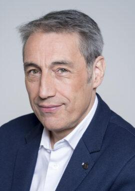 Le journaliste sportif français Claude Eymard