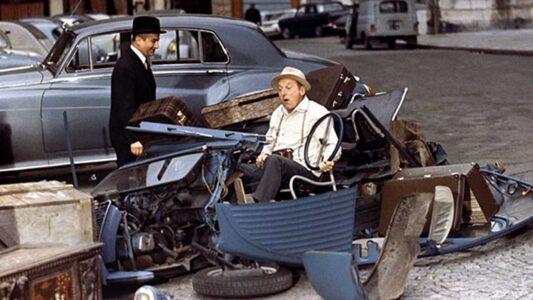 """La scène culte du film comique franco-italo-espagnol """"Le corniaud"""", réalisé en 1965 par Gérard Oury : """"Maintenant elle va marcher beaucoup moins bien, forcément"""" !"""