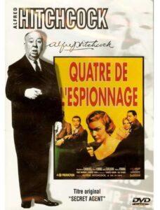 """DVD du film britannique """"Quatre de l'espionnage"""", d'Alfred Hitchcock (1936) (""""Secret agent"""")"""