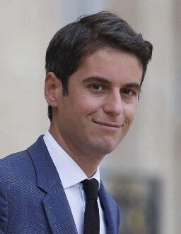 L'homme politique français Gabriel Attal