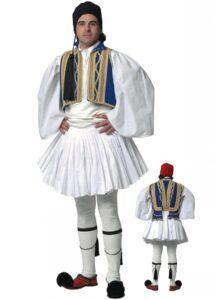 Un homme en habit traditionel grec, recto et verso