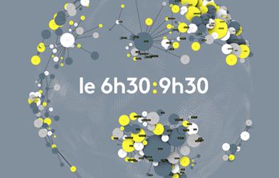 """Logotype de l'émission """"le 6h30:9h30"""" sur la chaîne de télévision publique française d'information en continu franceinfo"""