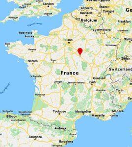 Localisation de la ville françaie d'Auxerre (89)