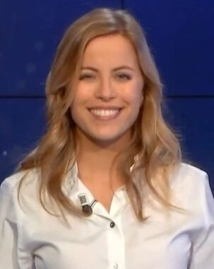 La journaliste sportive française Pauline Sanzey