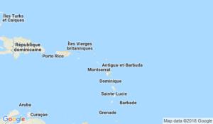 Localisation d'Antigua et Barbuda