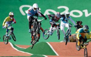 Une course de BMX Race